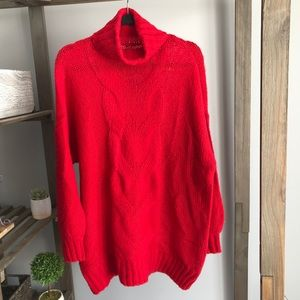 Aerie Turtleneck Cozy Sweetheart Red Size S